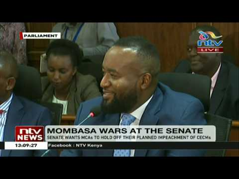 Mombasa Governor Hassan Joho appears before Senate