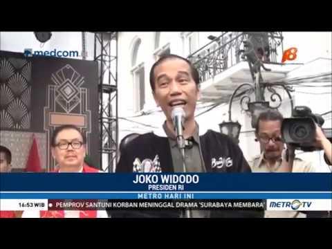Jokowi Konvoi Motor Keliling Kota Bandung
