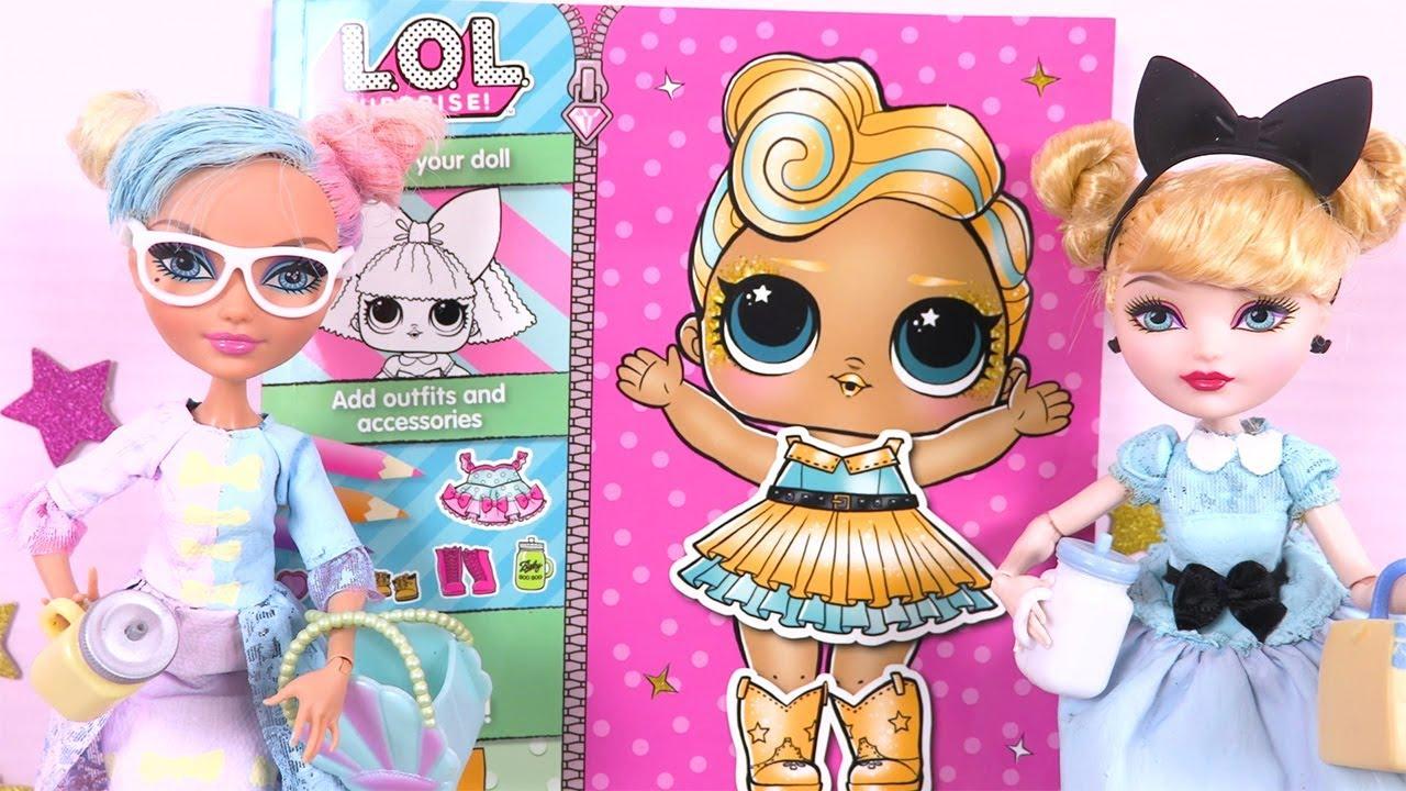 Poupées Famille LOL Surprise Coloriage Loisirs Créatifs Stick & Style
