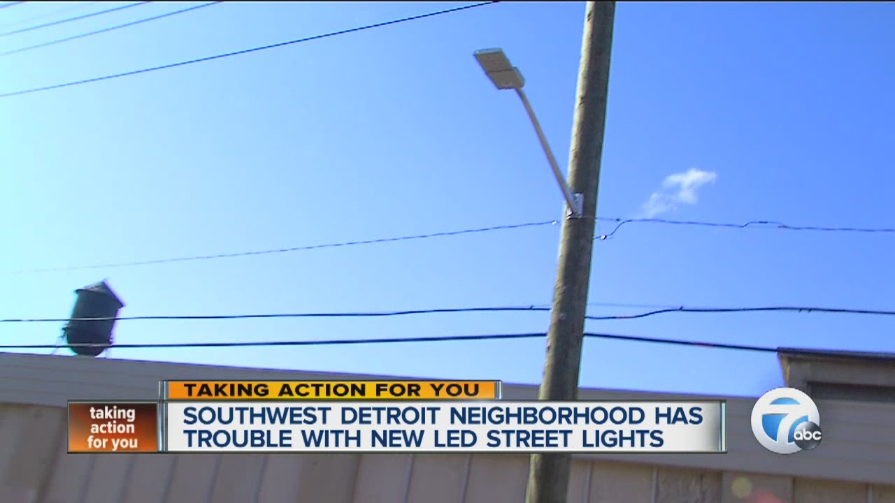 New Led Street Lights Go Dark In Detroit Neighborhood