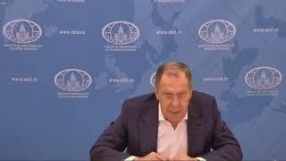 "С.Лавров на презентации доклада клуба ""Валдай"", Москва, 13 октября 2020 года"
