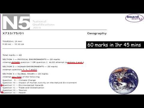 National 5 Geography Study Skills