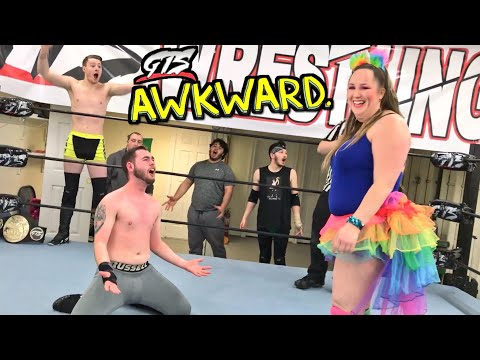 HER BOYFRIEND IS GONNA BE MAD! MOST AWKWARD TAG TEAM CHAMPIONSHIP MATCH EVER!