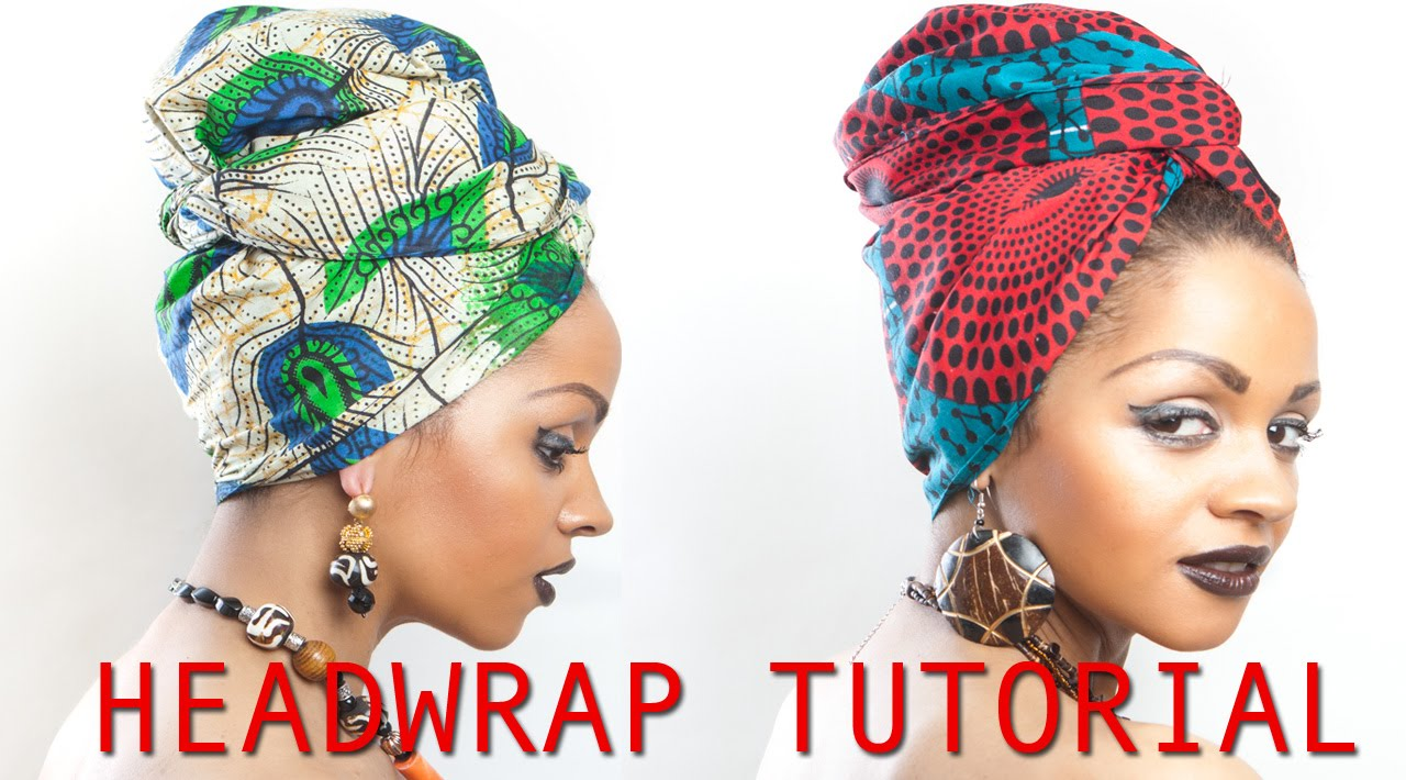 AFRICAN PRINT FABRIC HEAD WRAP SCARF TIE UP