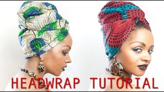 Uroobah African Headwrap tutorial in just 2 minutes
