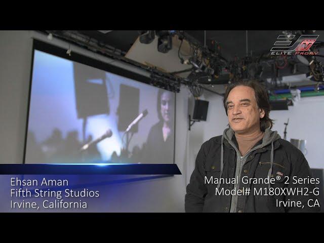 Elite ProAV® Manual Grande® 2 Large Manual Pull-down Projector Screen Testimonial in Irvine, CA