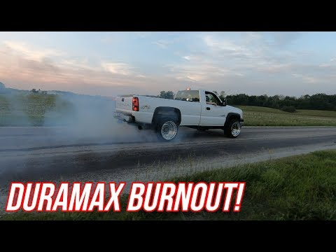 Getting The SEMI TRUCK WHEELS On My Duramax And Doing A BURNOUT!