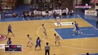 バスケ2016インカレ女子準決勝、大阪人間科学大学vs白鴎大学