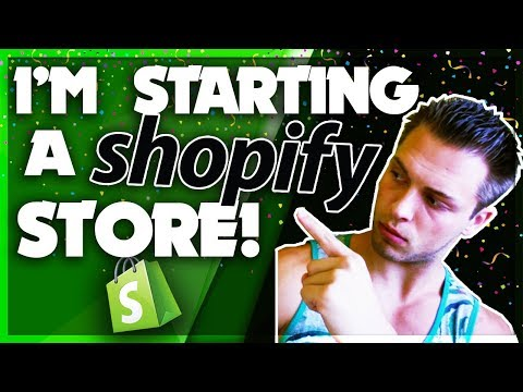 STARTING A SHOPIFY STORE! Shopify Store Setup Walkthrough For Beginners
