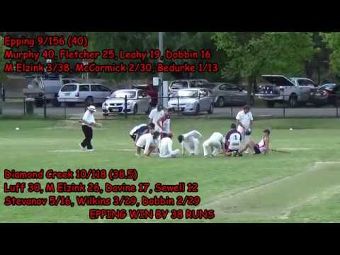 Diamond Creek v Epping – B Grade, Round 11, 2017/18 – Post-Game Discussion (Channel 8)