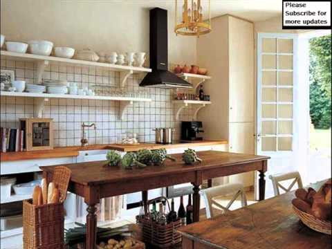 country kitchen shelving ideas