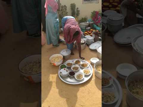 repas d'une céremonie de mariage au Tchad