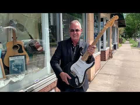 A 2006 Fender Custom Shop EC Blackie Tribute Stratocaster