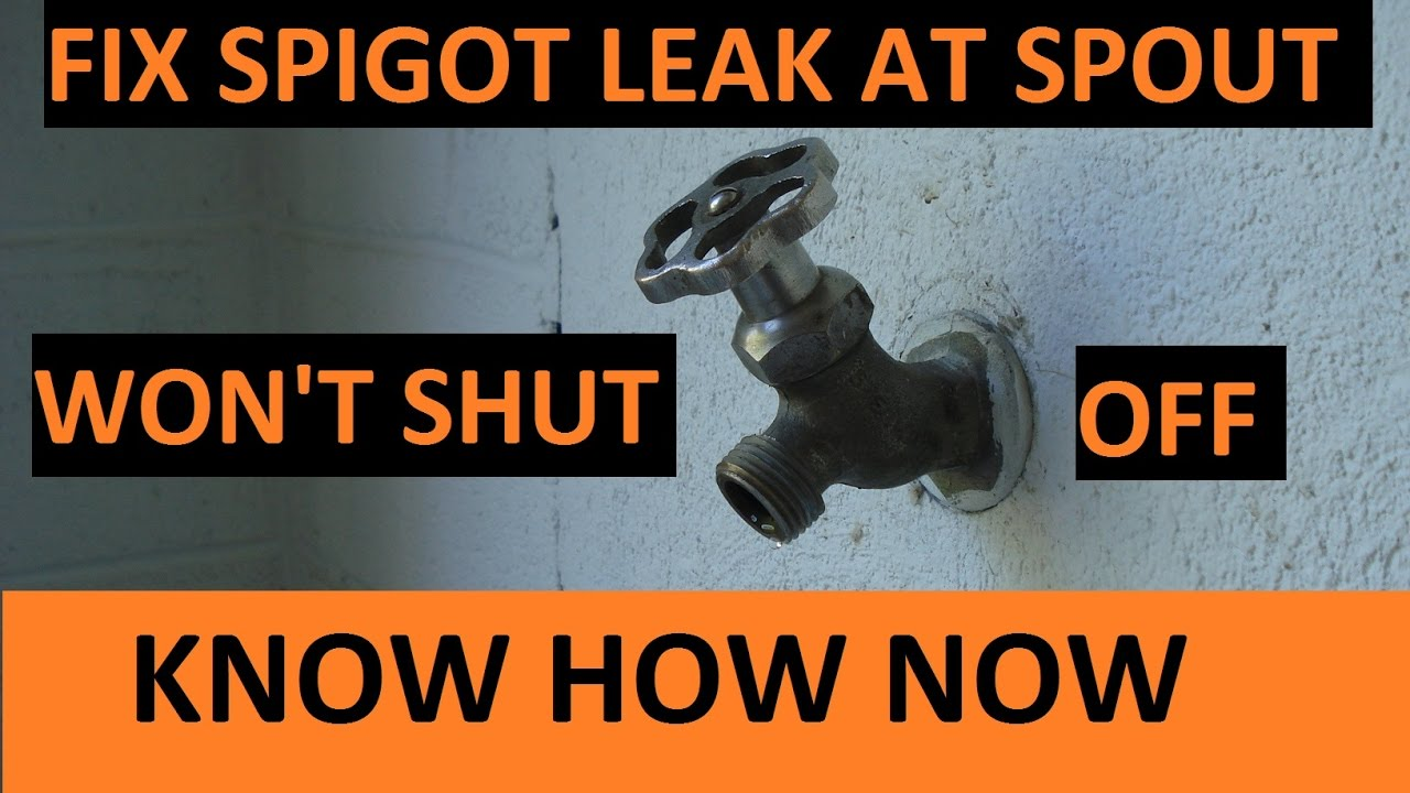 Leaky Outdoor Faucet Repair You