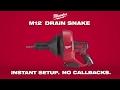 Milwaukee M12™ Drain Snake - M12BDC8-0C
