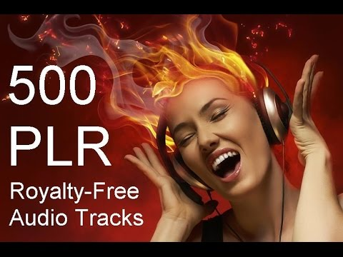 500 PLR Music Audio Sound Tracks Royalty Free