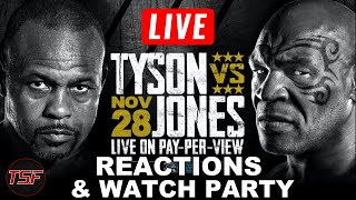 Mike Tyson vs Roy Jones Jr Live Play-By-Play & Reactions
