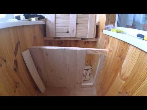 Ящик-кресло для картошки на балкон из вагонки.