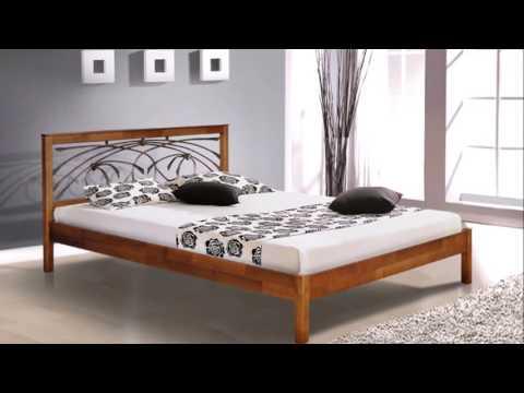 Деревянные кровати с ковкой