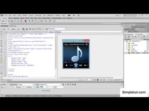 How to add a HTML5 MP3 Player to your website - Simple Dreamweaver Tutorial