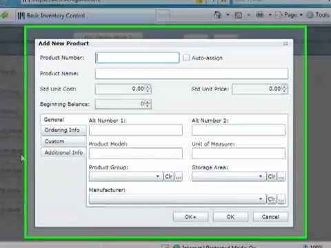 Basic Inventory Control Online - Overview - YouTube