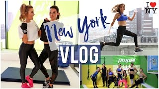 VLOG: NYC Trip '17 | Intense Workouts , Champagne Popsicles & Being a Tourist!