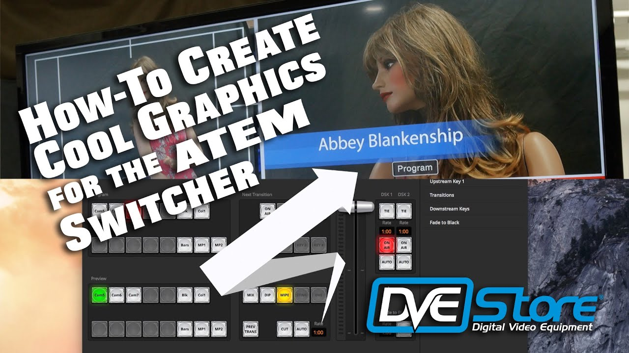 How To Create Use A Lower 3rd Graphic With Alpha For Blackmagic Atem Switchers Youtube