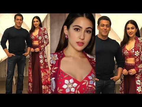 Sara Ali Khan look so happy meeting Salman Khan for the first time