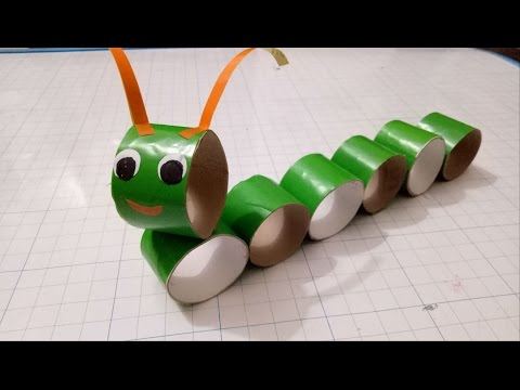Crafts caterpillar with paper roll/Diy for kid/fun kids crafts/diy animals