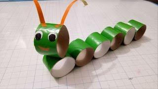 Crafts caterpillar with paper roll/Diy for kid/fun kids crafts/diy animals