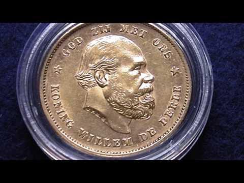Dutch Gold 10 Gulden 1879 Coin