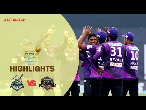 Dhaka Platoon vs Chattogram Challengers Highlights | 21st Match | Season 7 | Bangabandhu BPL 2019-20