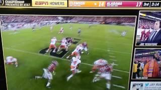 Big hit on Deshawn Watson by Alabama