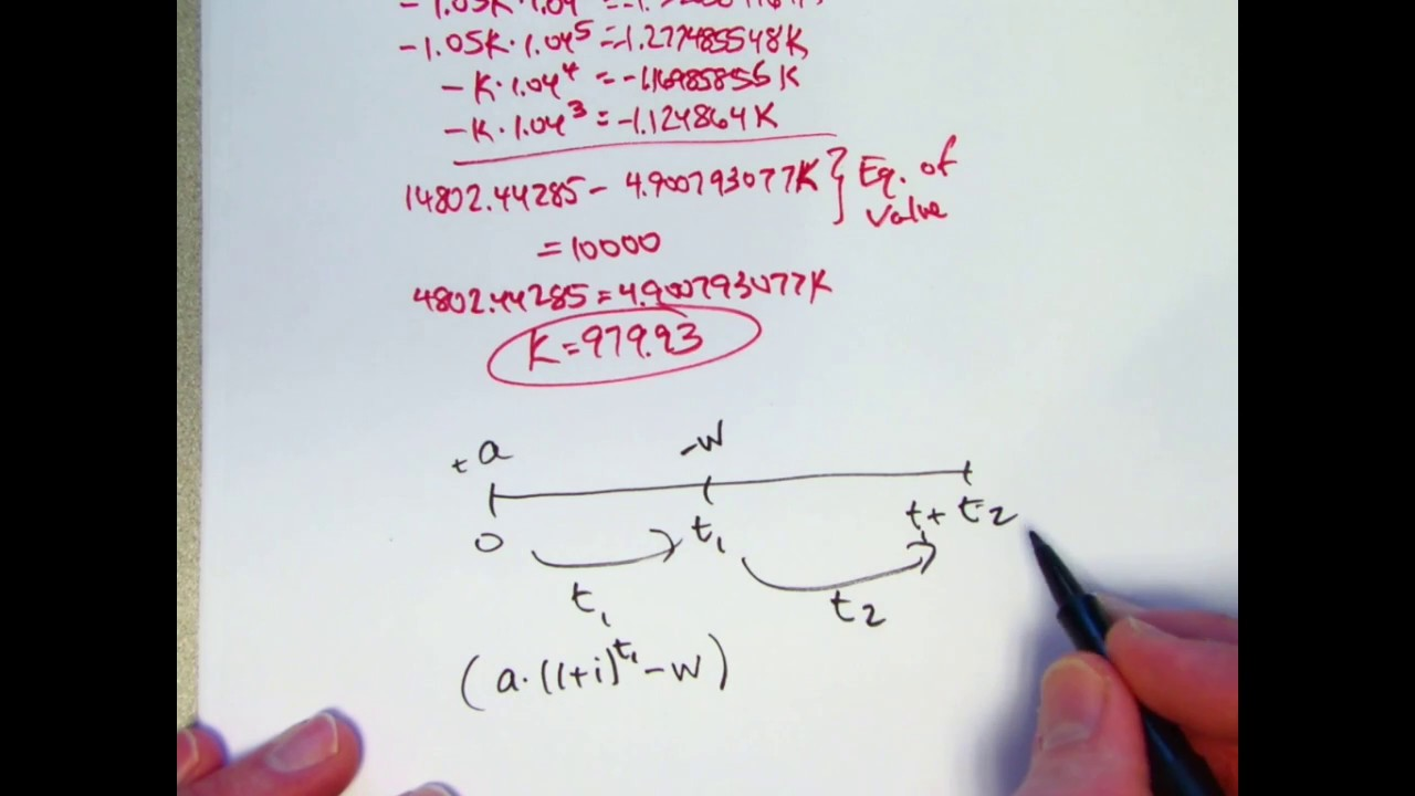 actuarial exam 2  fm prep  use an equation of value to