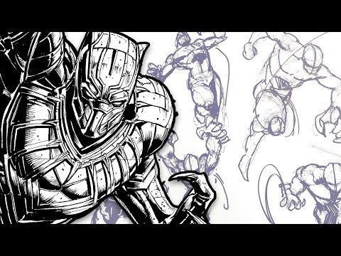 DYNAMIC FIGURE DRAWING! - Comic Art Pose Tutorial (Feat. TheBoxOfficeArtist)