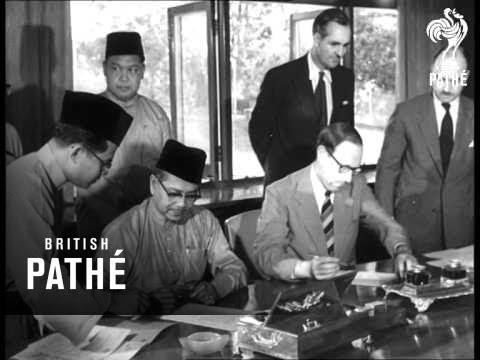 Signing Of Anglo-Malayan Treaty (1957)