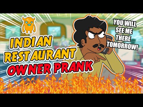 Rude Indian Restaurant Owner Loses His Temper (soo mad)