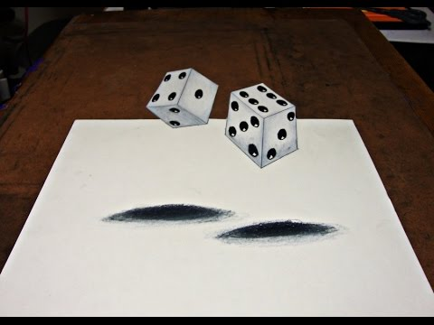 Drawing 3d dice illusion