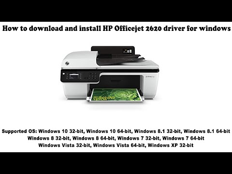 How To Download And Install HP Officejet 2620 Driver Windows 10, 8 1, 8, 7, Vista, XP