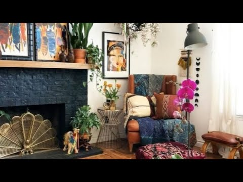 InteriorDesign | Gorgeous Bohemian Living Room Decor 🍍 - YouTube
