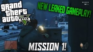 NEW GTA 5 Leaked Gameplay Mission 1!