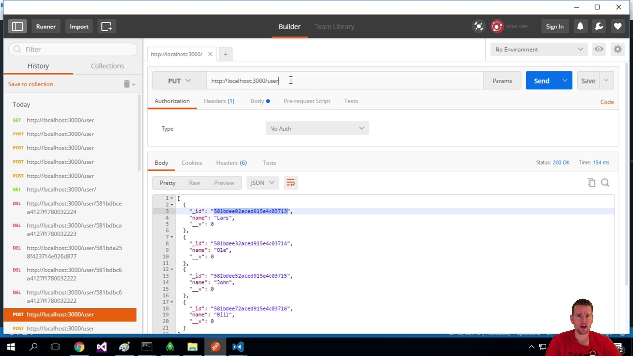 Use mongoose and Express to Update a User in the MongoDB