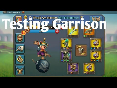 Testing My Garrison Trapping Lords Mobile| Lords Mobile Grassion Trapping