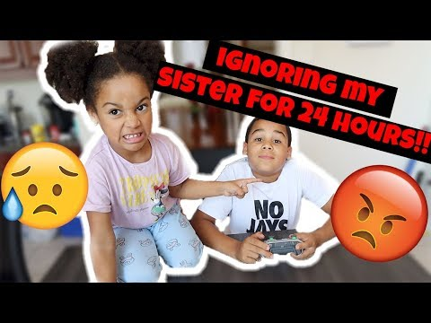 Ignoring My Sister for 24 Hours!