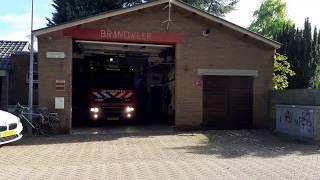 brandweer Melissant met P2 naar bermbrand in Dirksland