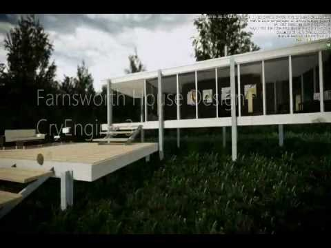 Cryengine 3 farnsworth house design youtube for Cryengine 3 architecture