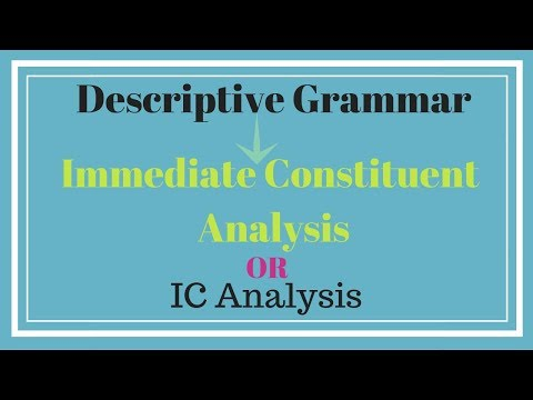 Immediate Constituent Analysis - in English with Urdu/Hindi explanation