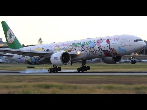 EVA Air **Hello Kitty Sanrio Family Livery** Landing at Vanc