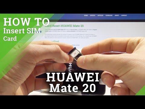 How To Insert Nano SIM In HUAWEI Mate 20 - Install SIM Card