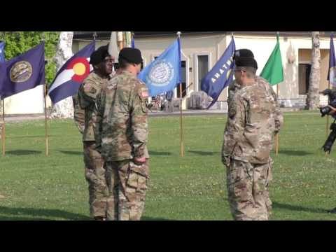 Change of Command Ceremony Charlie Detachment 106th Financial Management Support Unit